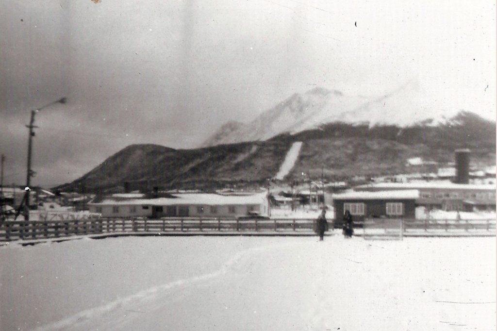 Antigua pista de patinaje sobre hielo en el polideportivo municipal de la Ciudad de Ushuaia.